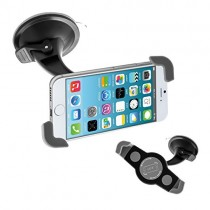 kwmobile windscreen car mount for Smartphones – car mount with suction cup in black – e.g. compatible with Samsung, Apple, Wiko, Huawei, LG, Sony, HTC, OnePlus, ZTE, Microsoft, Nokia, Blackberry, Motorola